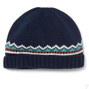 Janie and Jack Navy Fair Isle Beanie, 2T-3 - NEW